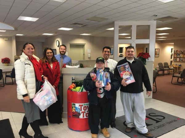 GHS Federal Credit Union's Toys for Tot's drive.