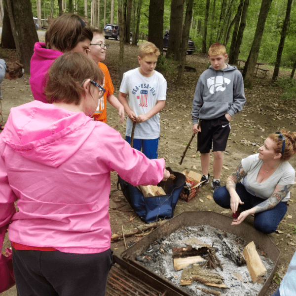 Recreation spent a day at Chenango Valley State Park. Participants were taught how to safely build a campfire, as well as the different styles of fire building. The group had a picnic lunch, then made s'mores over the fire they built together!