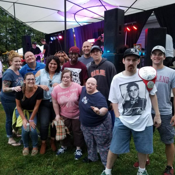 The Recreation Respite Program went to the Seedstock Music Festival in Cortland, NY. Participants danced the night away while listening to the bands Molly & the Badly Bent Bluegrass Boys, Skunk City, and Root Shock. Inclusive recreation at its finest!
