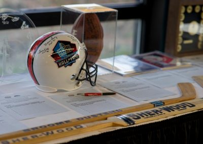 Binghamton Devils golf tournament football memorabilia